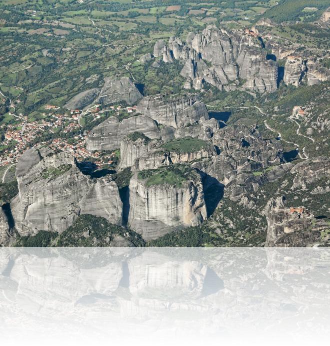 Αεροφωτογράφηση περιοχής: Μετέωρα