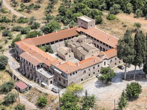 Αεροφωτογραφία Μοναστηριού (Λακωνία)