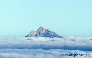 Mount Athos aerial view