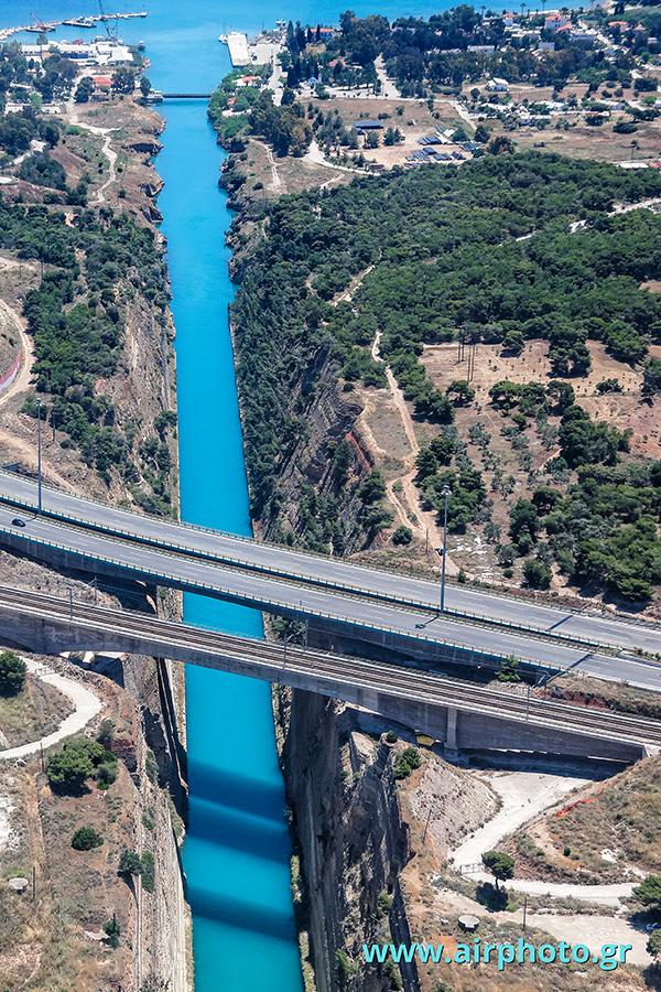Korinth-isthmus-canal-aerial-photo