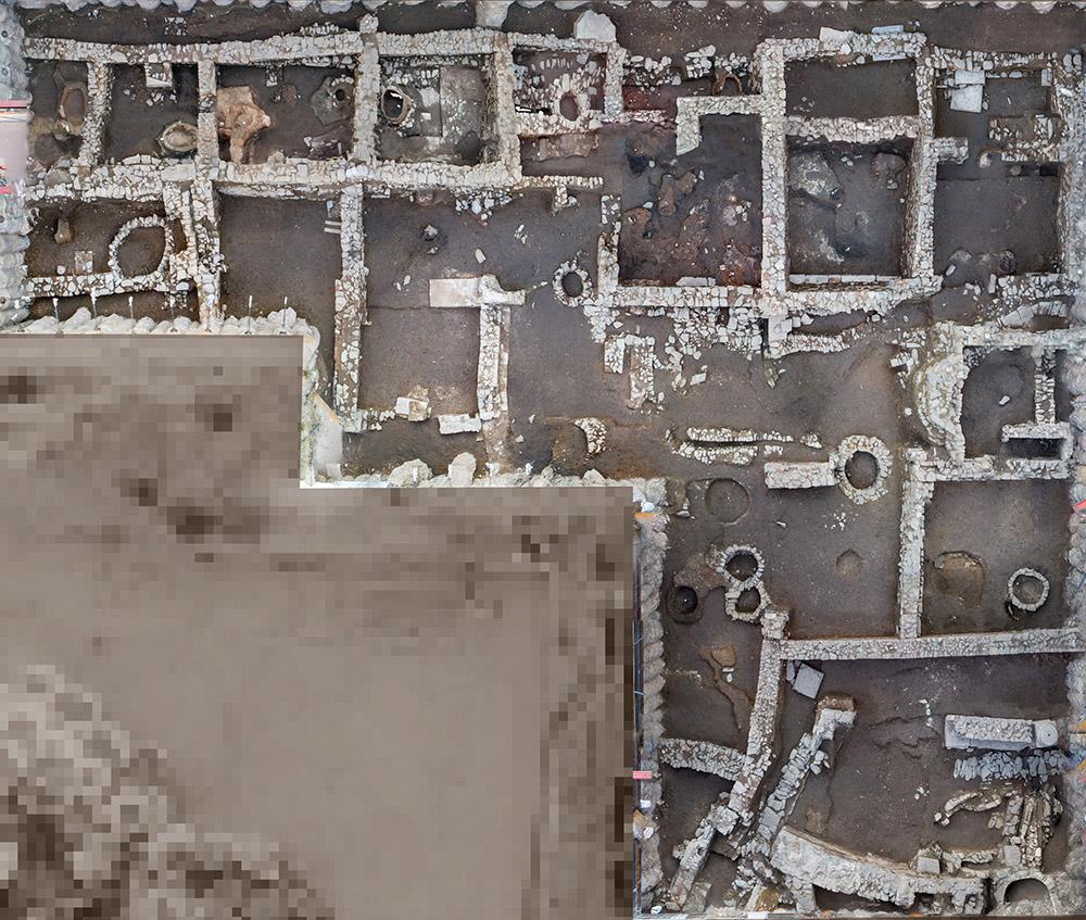 αεροφωτογράφηση αρχαιολογικών εργασιών