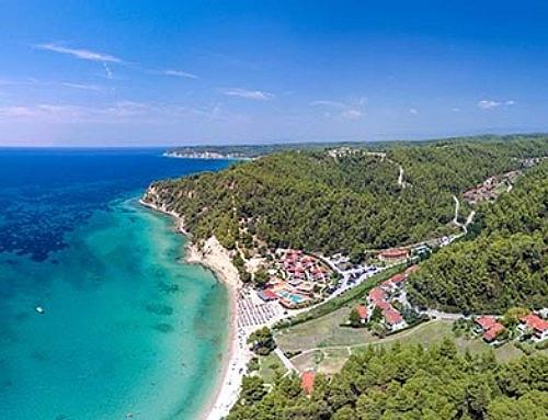 Πανοραμική αεροφωτογραφία 360. Ελάνη, Κασσάνδρα Χαλκιδικής.